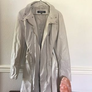 KENNETH COLE REACTION Cream Trench Jacket
